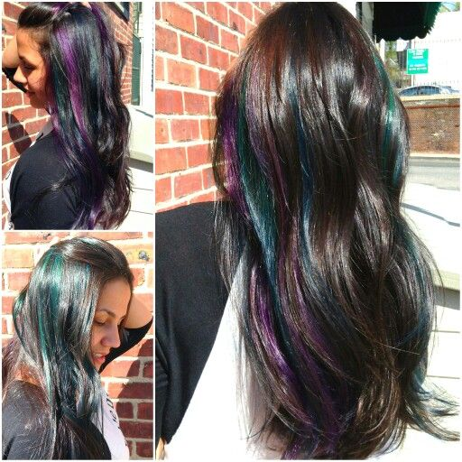 Peek a boo hair color teal purple and cobalt blue with dark hair peek a boo hair color teal purple and cobalt blue with dark pmusecretfo Choice Image