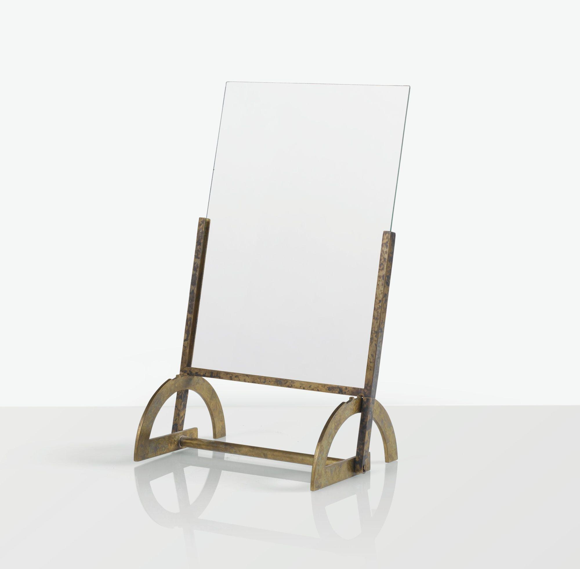 Eugène Printz; Brass and Glass Picture Frame, c1940.