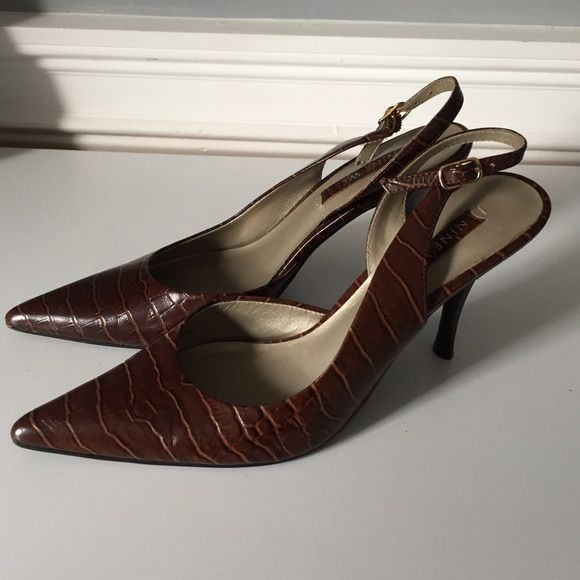 Nine West Slingbacks Heels size 6.5 in great condition Nine West Shoes Heels