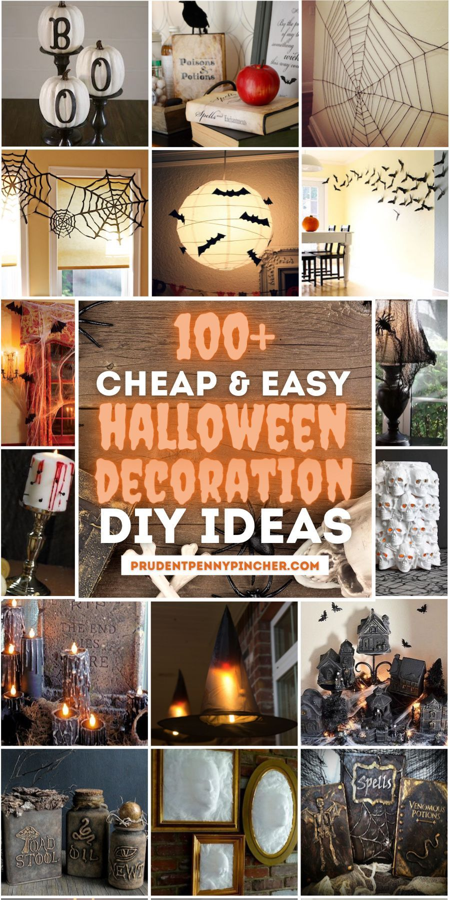 100 Cheap And Easy Diy Halloween Decor Ideas In 2020 Easy Diy Halloween Decorations Halloween Party Diy Halloween Decorations