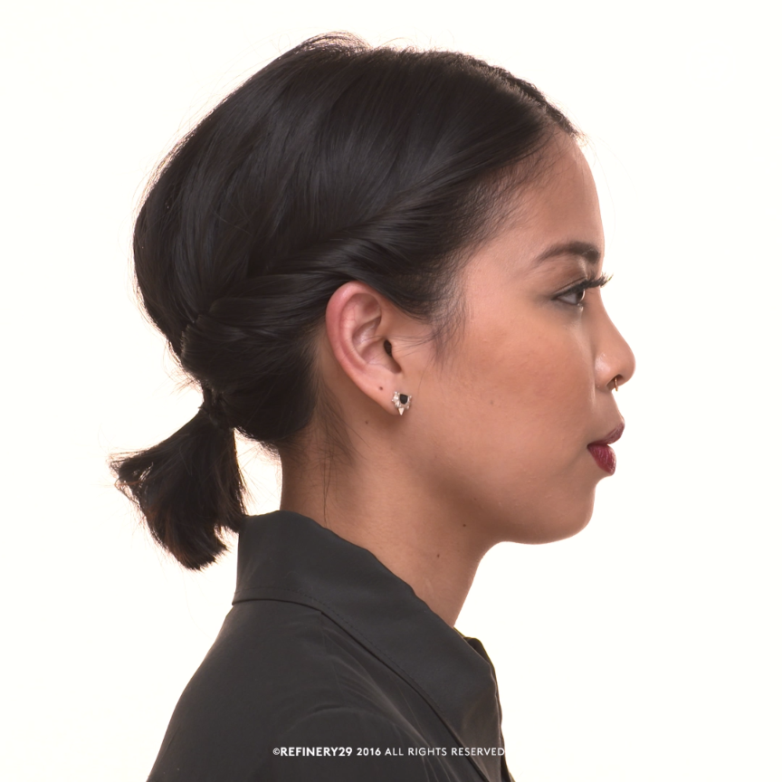 A super cute and easy updo for short hair | Video ...