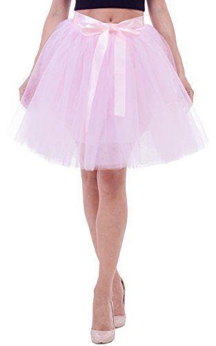 99592a5f7c Duraplast Women's Above Knee Skirt Tutu Petticoat High Waist Tulle ...