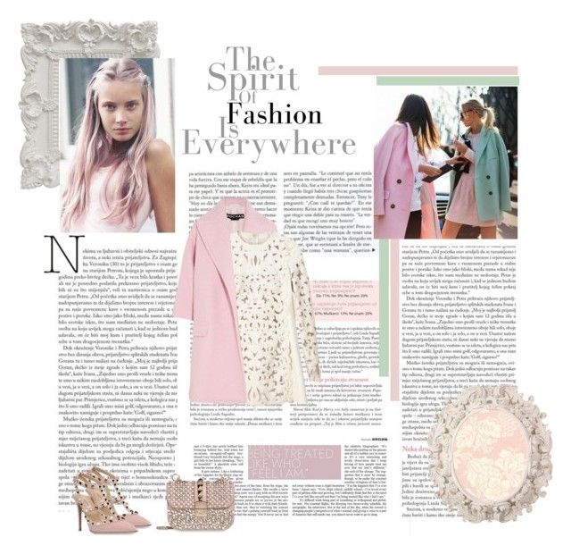 Pastel. pink ? by euaggelia on Polyvore featuring polyvore fashion style Rochas Valentino Pantone clothing