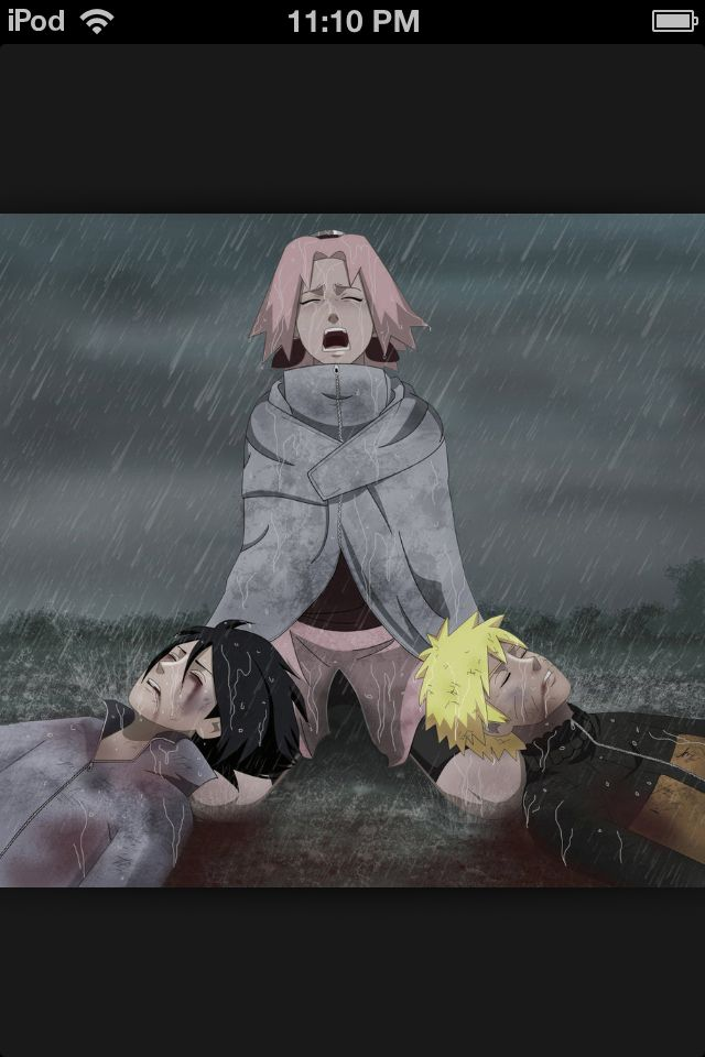 Naruto and Sasuke hurt while Sakura is crying and ...