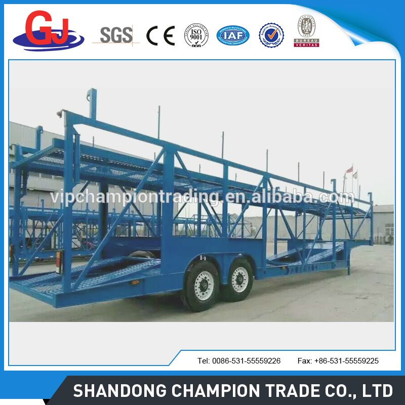 Car carrier semi trailers used carry 9-12 cars for Philippines ...