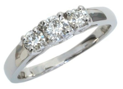 Diamond engagement ring with 025ct round center and 025carat total