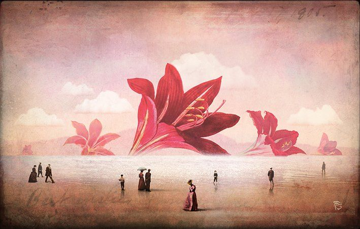 """"""" The Arrival of the Flowers """" by Christian Schloe"""