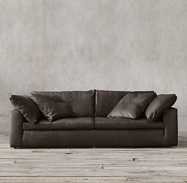 cloud track arm leather two seat cushion sofa synergy furniture living room