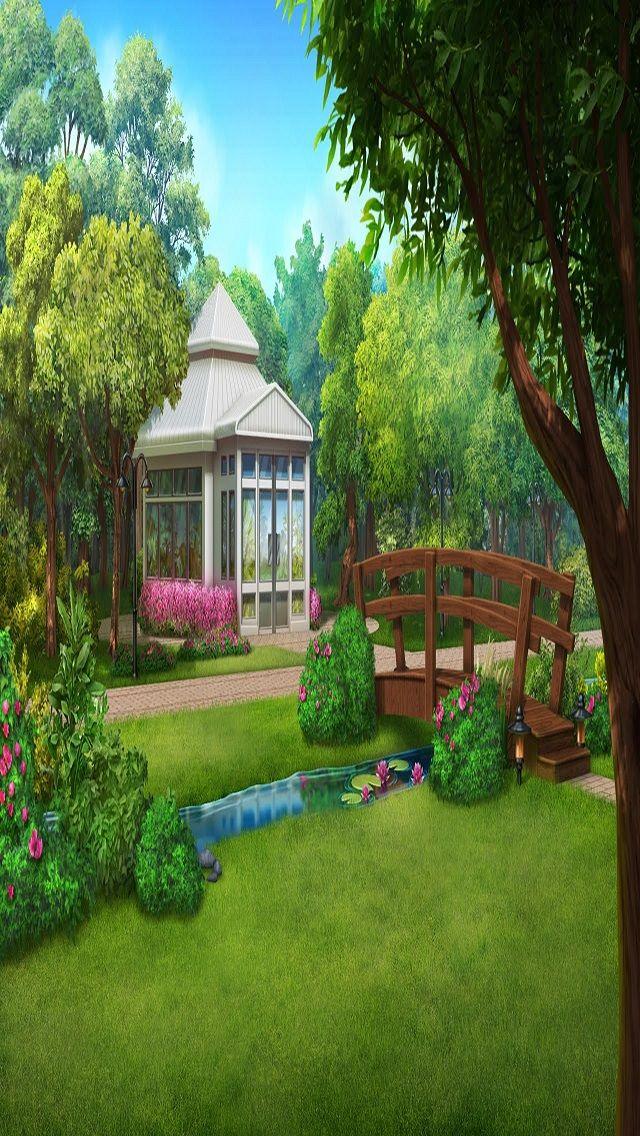 Ext Park Day Small Episodeinteractive Episode Size 640 X 1136 Episodeourcrazylovelife Anime Scenery Scenery Background Anime Background