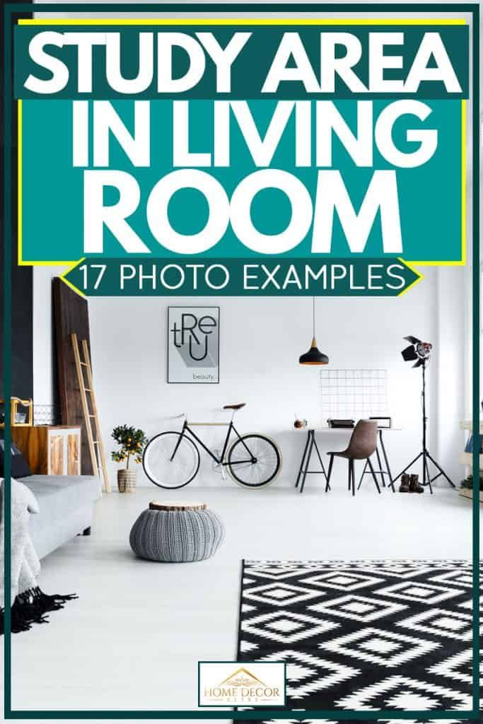 Study Area In Living Room: 17 Photo Examples. Article by ...