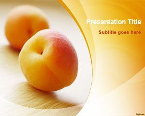 Download free peach fruit powerpoint template and slide design for download free peach fruit powerpoint template and slide design for presentations with awesome graphics and photos of fresh peaches ready to make toneelgroepblik Images