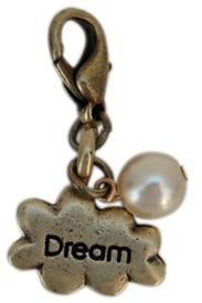 "May your dreams come true. Oxidized Brass ""Dream"" Cloud Charm & Pearl   www.classiclegacy.com"