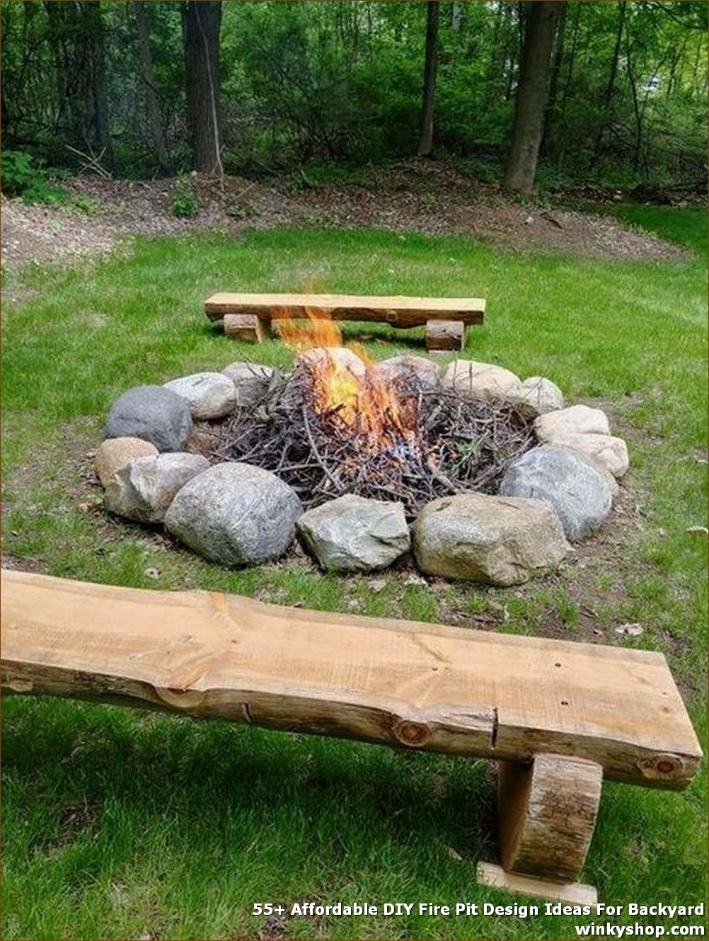 Photo of 55+ Affordable DIY Fire Pit Design Ideas For Backyard ✓