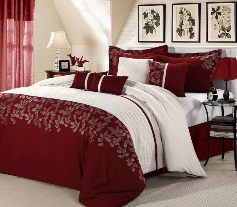 Look At This Red Montana Embroidered Comforter Set By Chic Home Design