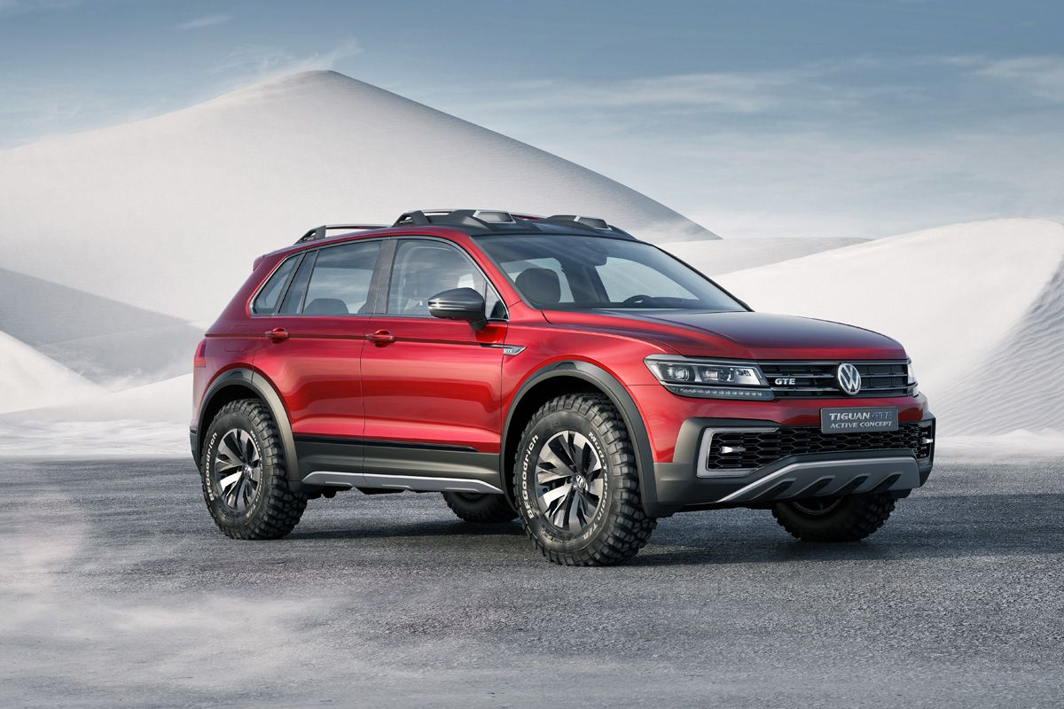 The volkswagen tiguan gte active concept is an extreme off road version of the second