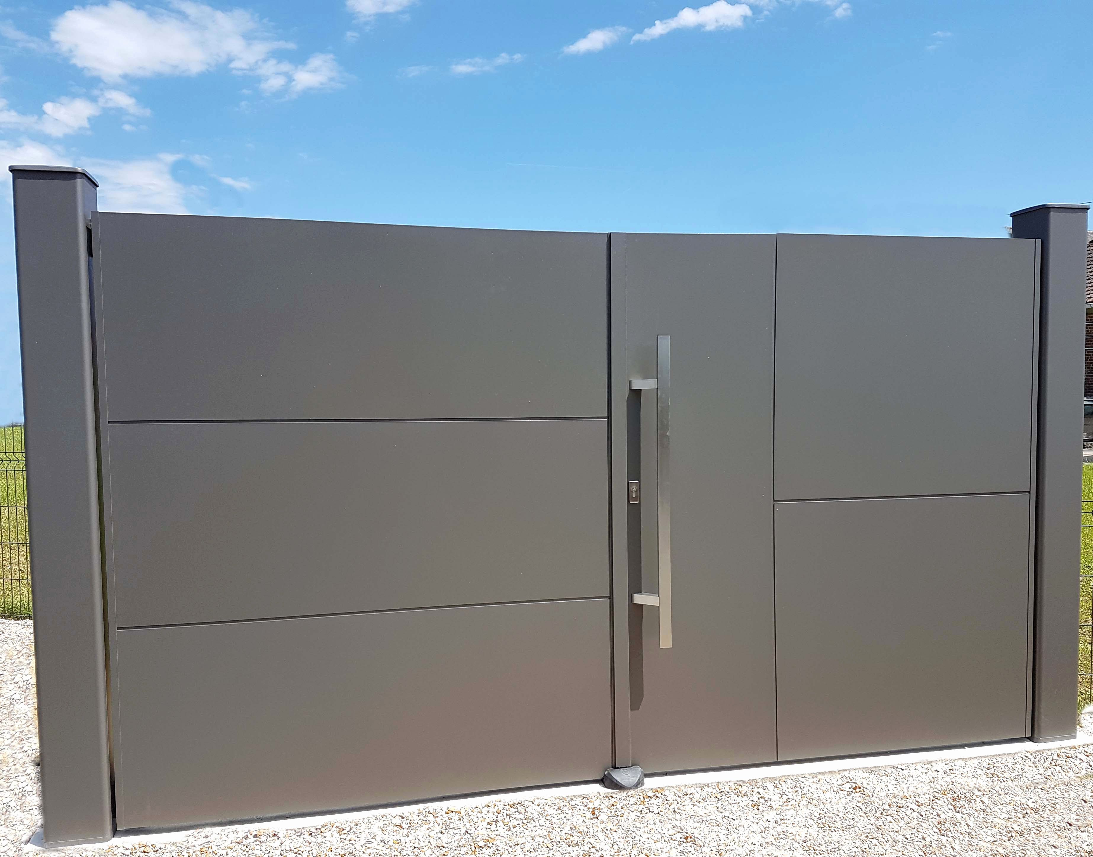Luxury Portillon Sur Mesure Castorama Main Gate Design Entrance Gates Design Gate Design