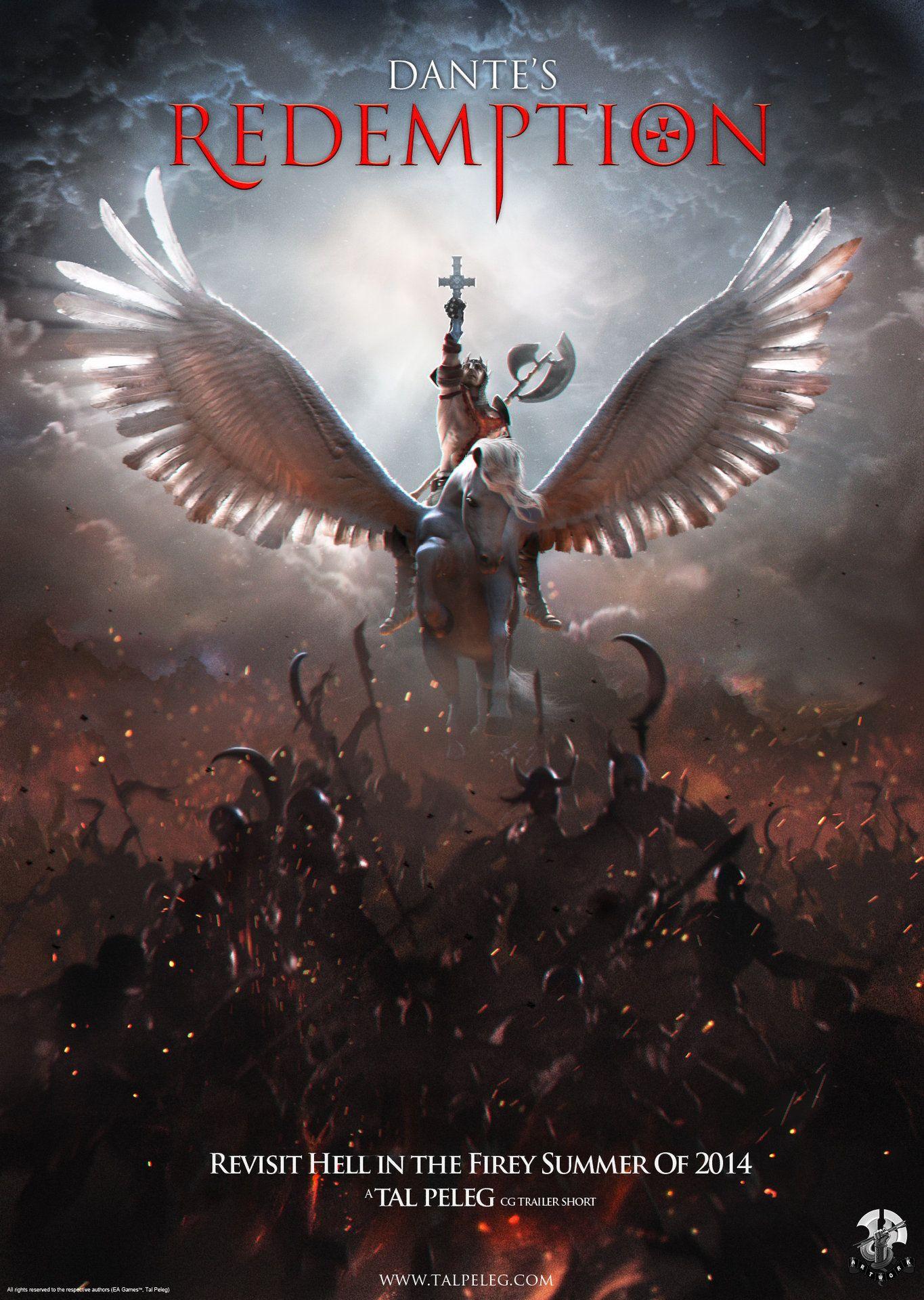 1a349638 ArtStation - Dante's Redemption Fan Art Movie Poster, Tal Peleg ...
