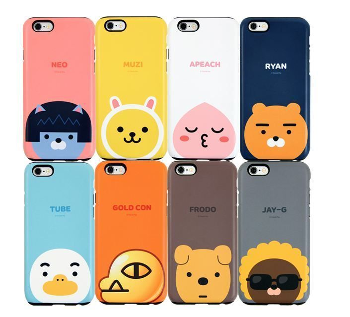Cute Korean Wallpaper For Cell Phones Kakao Friends Pop Iphone 6 6s Plus Cell Phone Case Cover