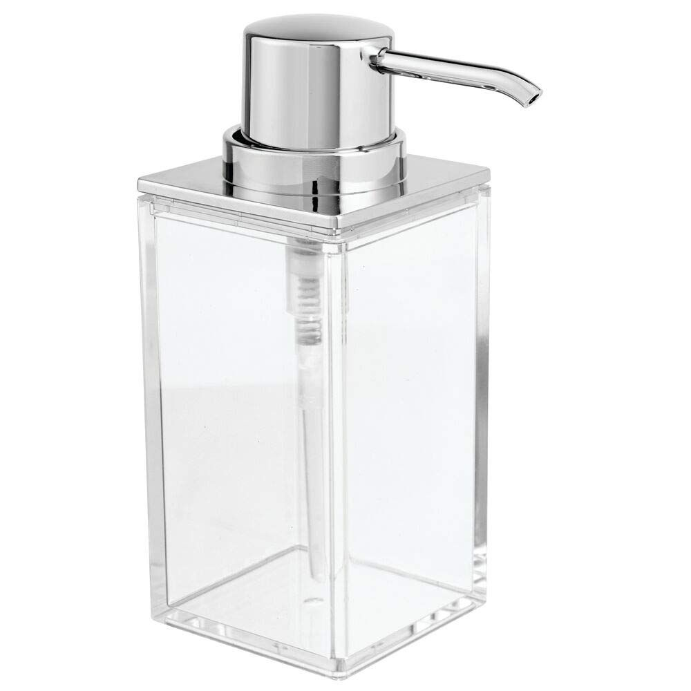 Mdesign Square Plastic Refillable Liquid Soap Dispenser Pump