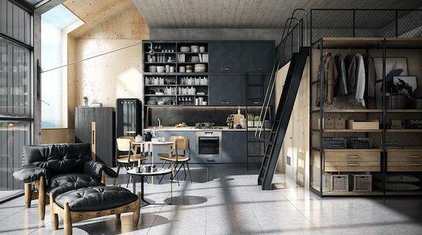 A masculine 3d loft designed by Tharik Mohammed
