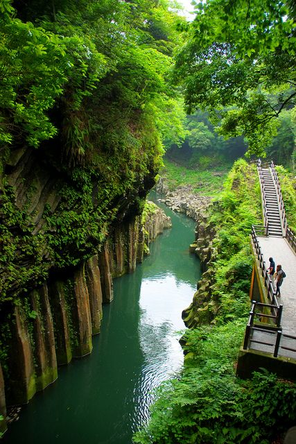 Takachiho Gorge  Japan Photo Via Osamah