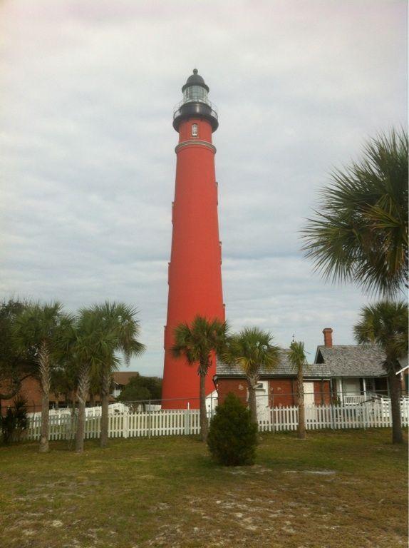 Florida Lighthouse Near Daytona Beach