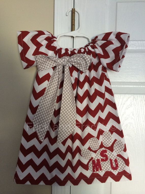 Bulldog Peasant Dress Colleges Sewing And Fans
