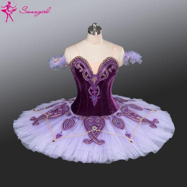 7d4ffc9758c3e New Arrival! purple professional ballet tutu with velvet purple pancake tutu …