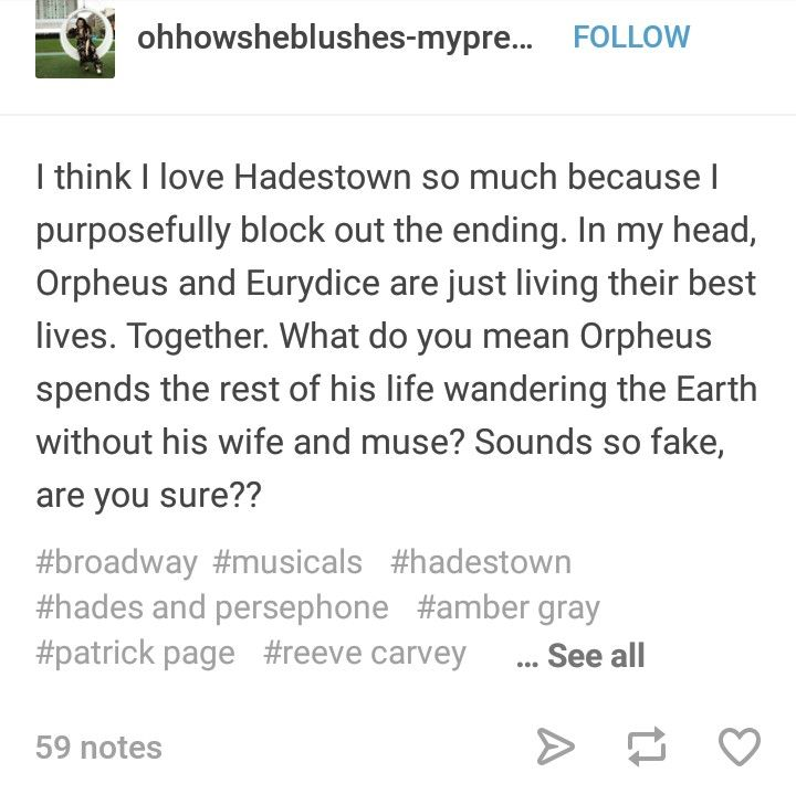 Pin by Emma Natasha on Hadestown in 2019 | Musical theatre, Musicals