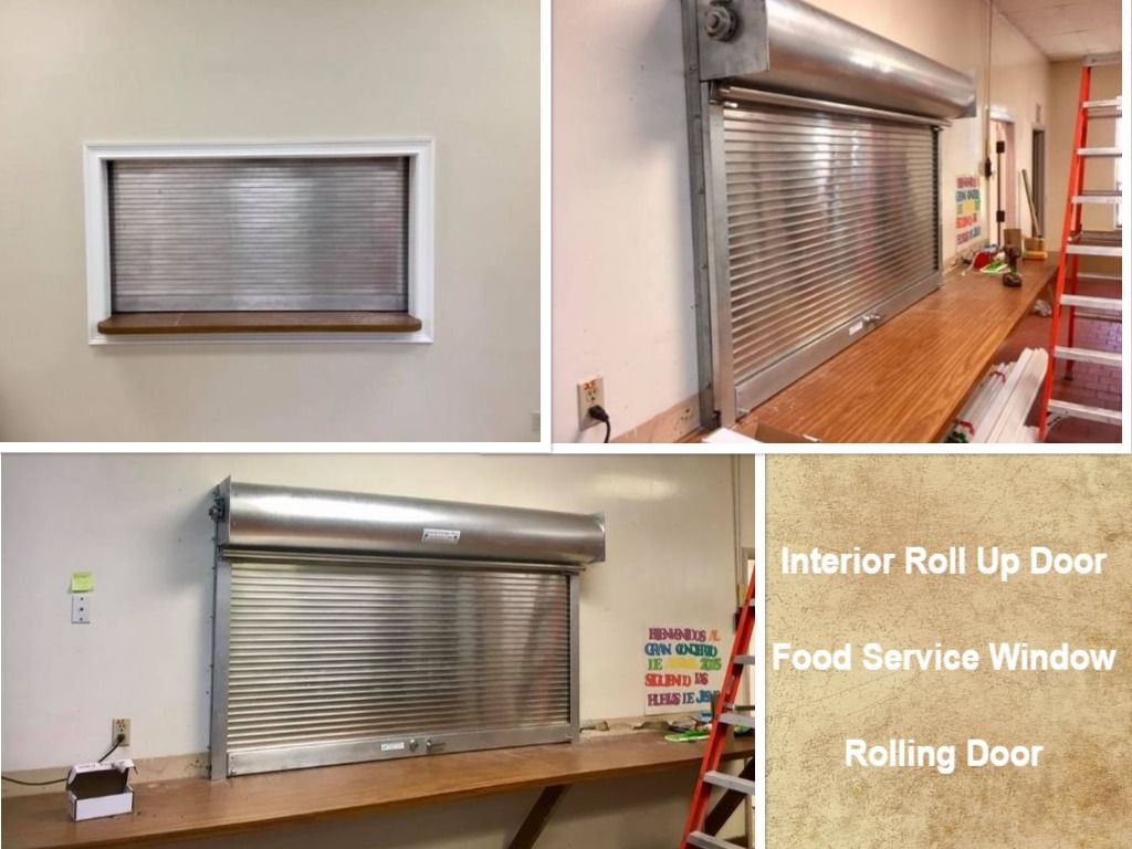 Interior Roll Up For A Food Service Window Food Counter Roll Up Door Rolling Door Commercial Garage Doors Roll Up Doors Garage Door Installation