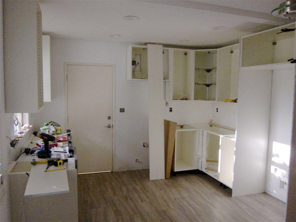 kitchen renovation: diy installation: ikea adel cabinets   kitchen