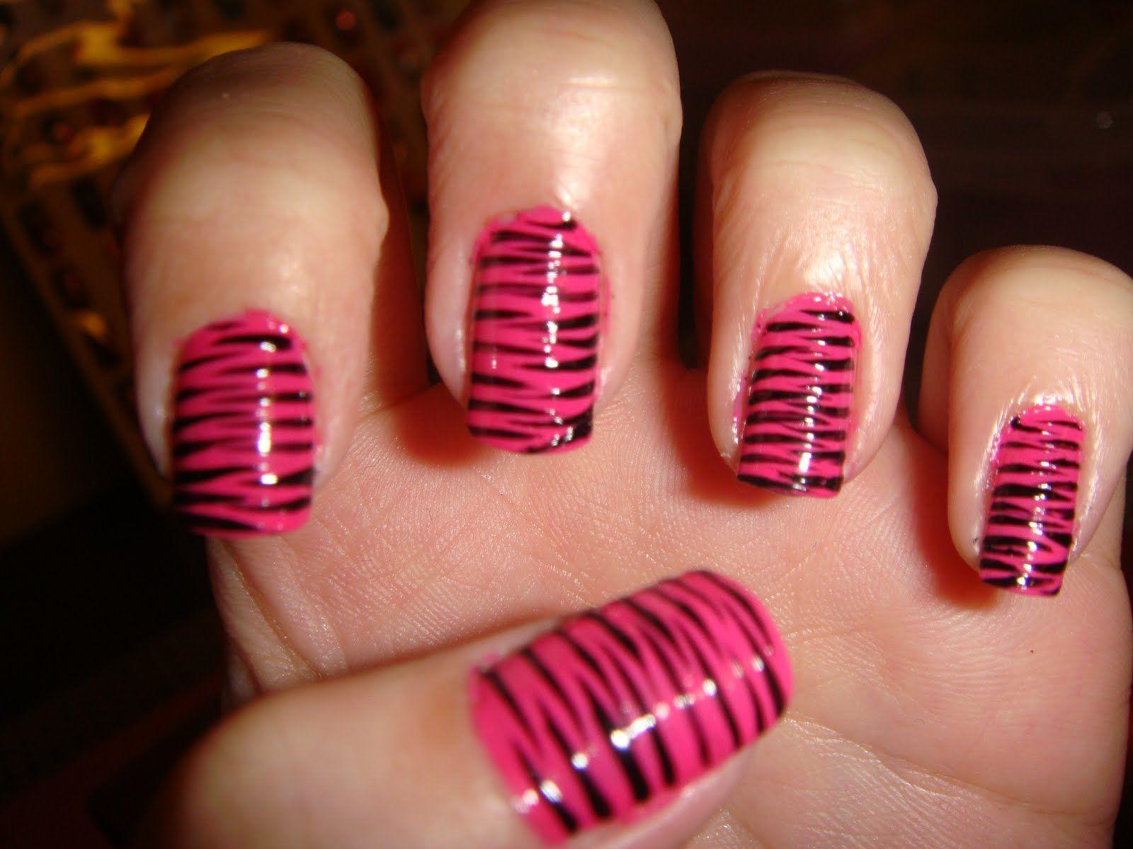 Pink zebra nails nails pinterest - Zebra Nail Designs Nail Ninja Rantszebra Nails Nails Pink Zebra Nail Art