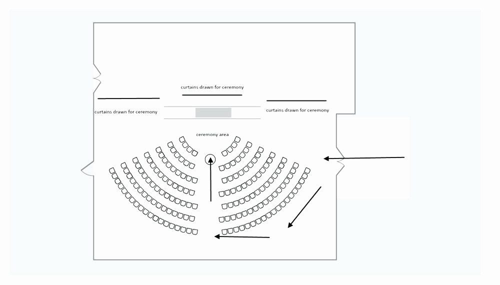 Church Seating Chart Template Elegant Wedding Ceremony