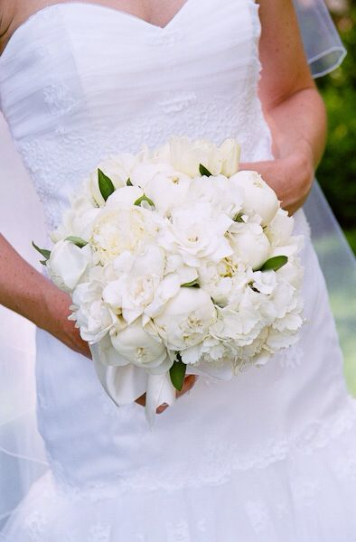 White Magnolia Peony And Hydrangea Wedding Bouquet Flower