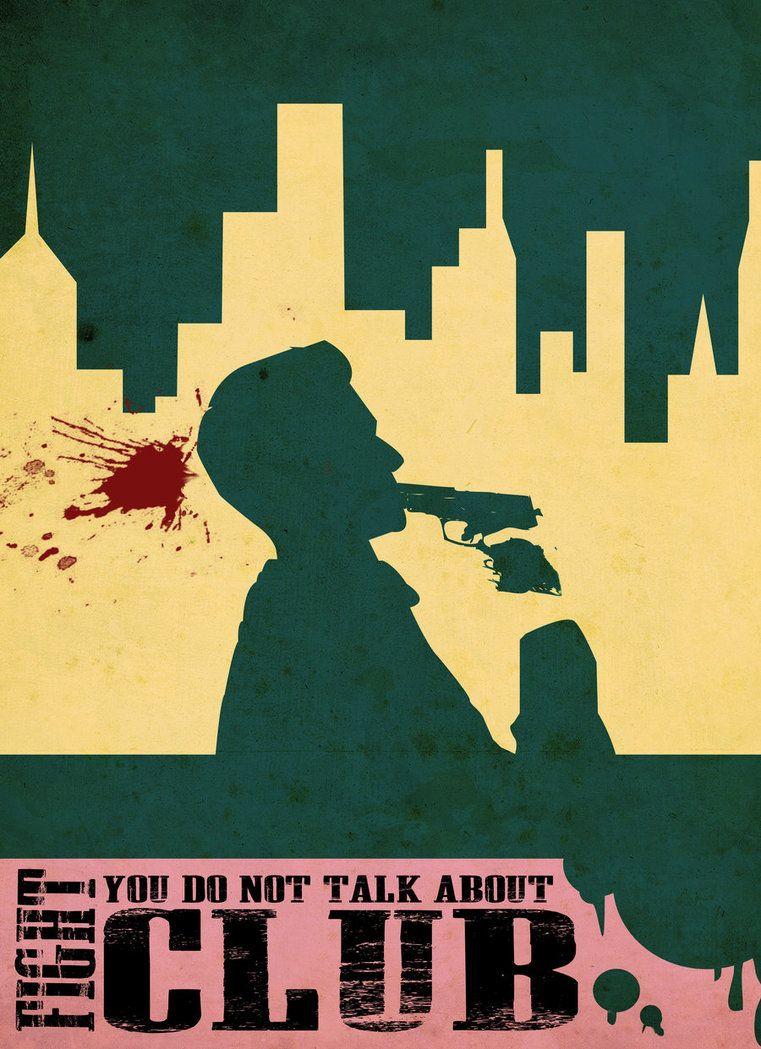 Fight Club - minimal movie poster - BuiltToFail.deviantart.com