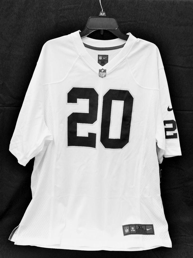 1c719c505 DARREN McFADDEN 20 Oakland Raiders REEBOK Equipment JERSEY NWT white   FootballNFL  OaklandRaiders
