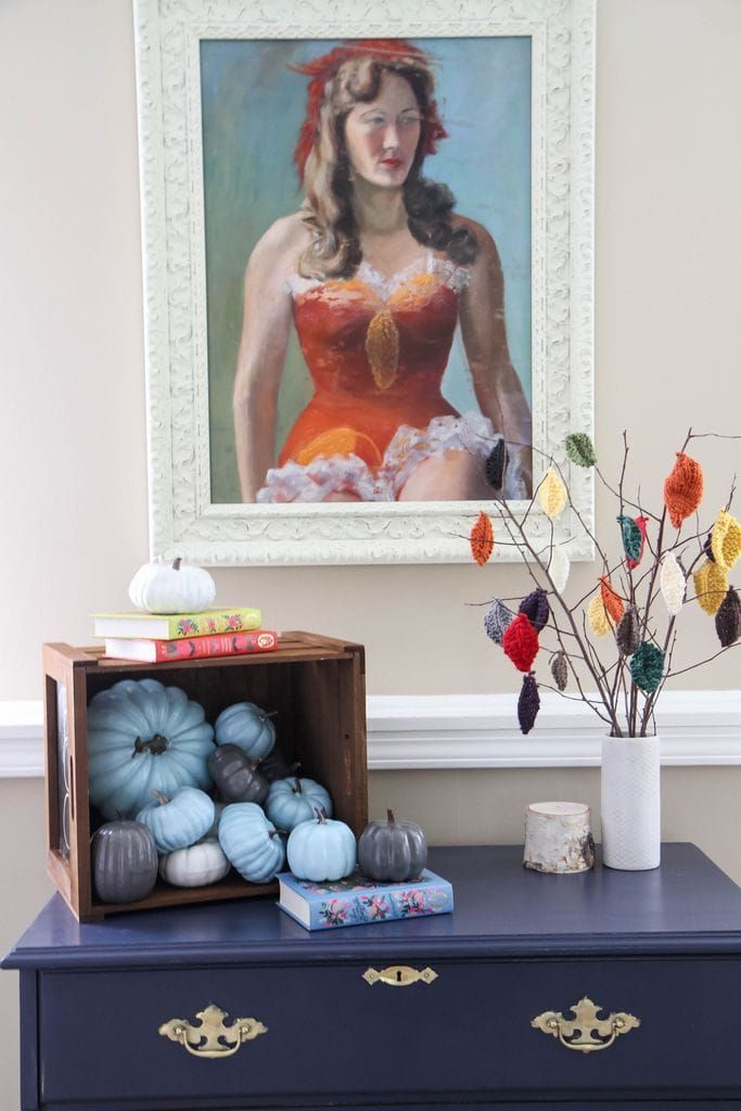 Painting Pumpkins With Acrylic Paints #clothnapkins