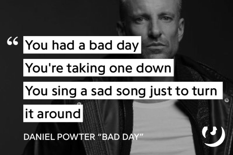 Pin By Jaelyn On Things To Draw Daniel Powter Bad Day Bad Day Lyrics Saddest Songs