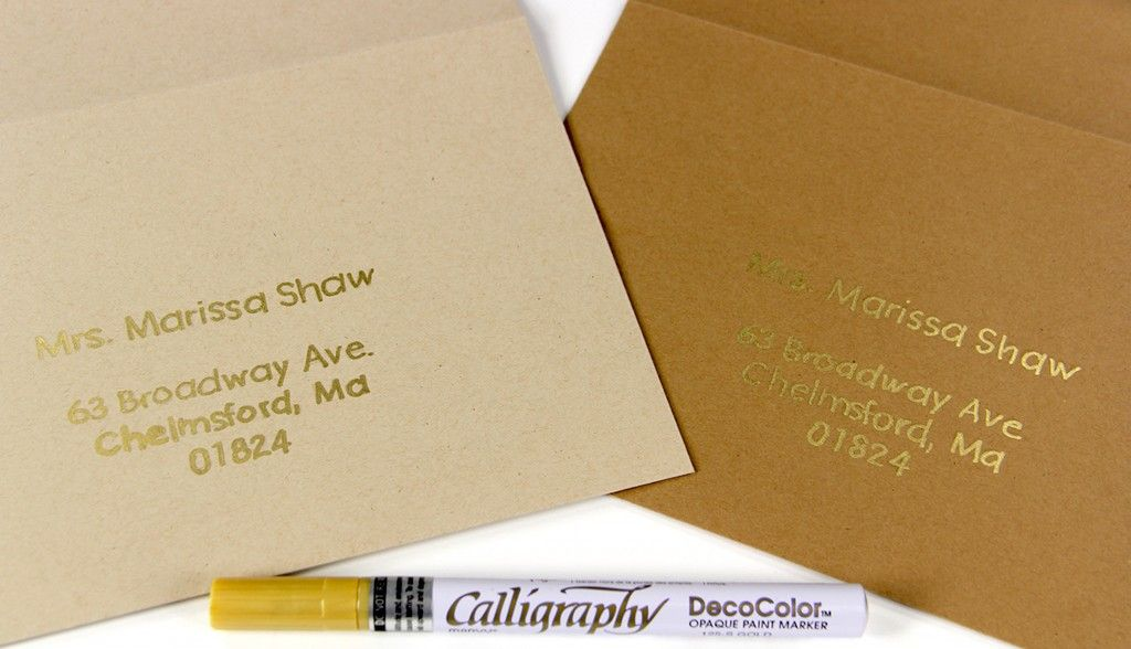 How To Write On Envelope For Wedding Invitations: 3 Pens To Hand Write On Kraft...