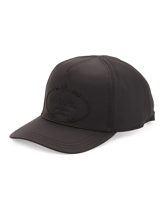 65598c9aeee Prada Nylon Logo Baseball Cap