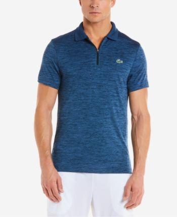 Lacoste Men S Novak Djokovic Flecked Tech Polo Blue M Lacoste Men Polo Shirt Outfit Men Shirt Outfit Men