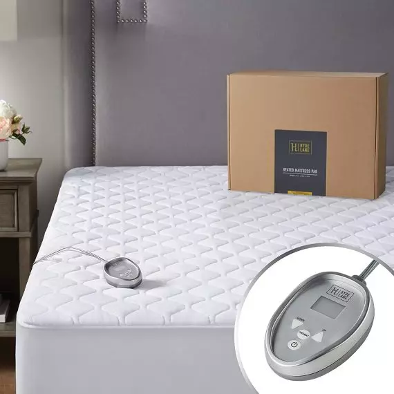 Hyde Lane Premium Mattress Heating Pad Queen Size 60 X 80 Inches 20 Heat Setting Heated Mattress Pad Mattress Pad Mattress Pads