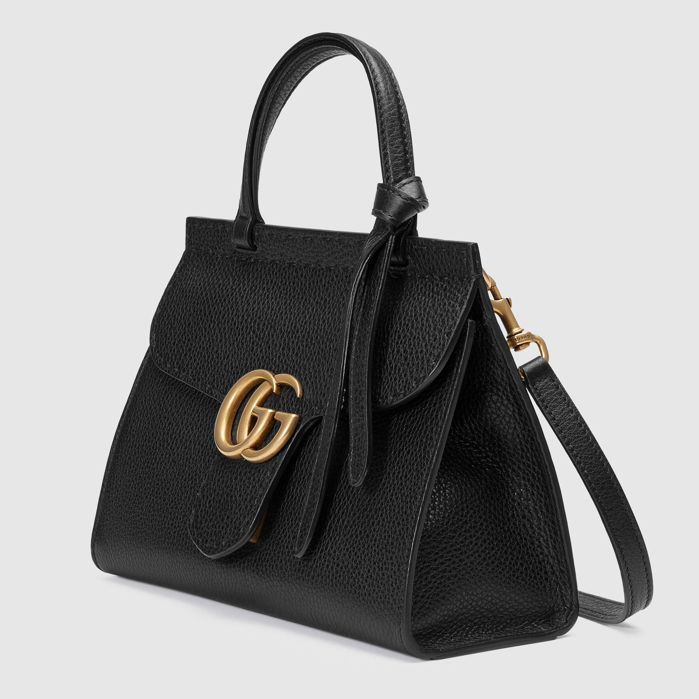 ff7fdc3f719a GG Marmont leather top handle mini bag in 2019 | Bags | Bags, Gg ...