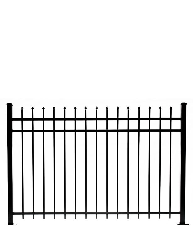 Pressed Point Pickets That Protrude Through The Top Two Rails Pickets Also Protrude Through The Bottom Rail 2 Ships Aluminum Fencing Air Space Horizontal