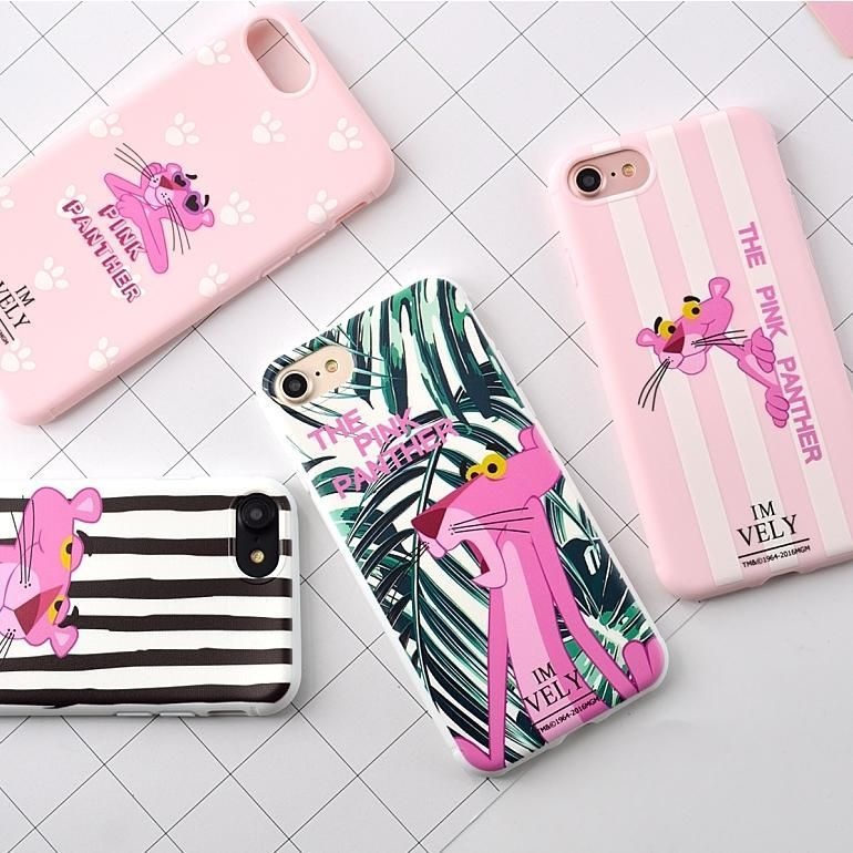 Candy Color Zebra Pink Panther Case Cover For 7 Plus Panther Iphone Zebra