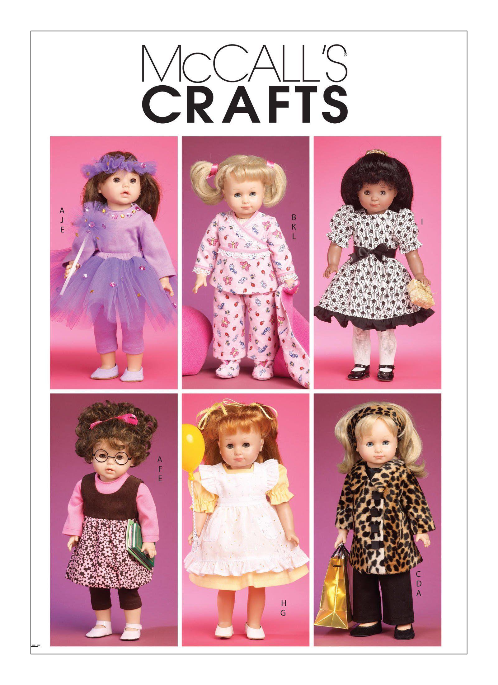 "Simplicity Pattern 1711 ~18/"" Doll Clothes~ Tops~Dresses~Leggings~Tutu /& More"