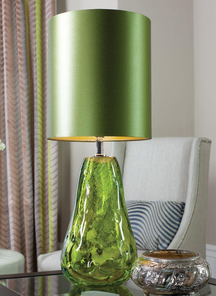 Designer Art Glass Emerald Green Table Lamp, sharing luxury designer ...