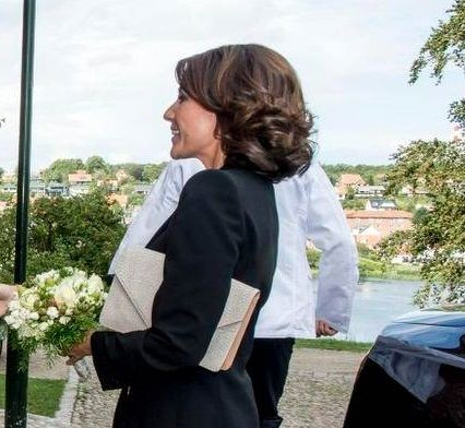 """Princess Marie of Denmark attended the opening of the """"Georg Jensen. An adventure in Danish silver"""" exhibition - 03.09.15"""