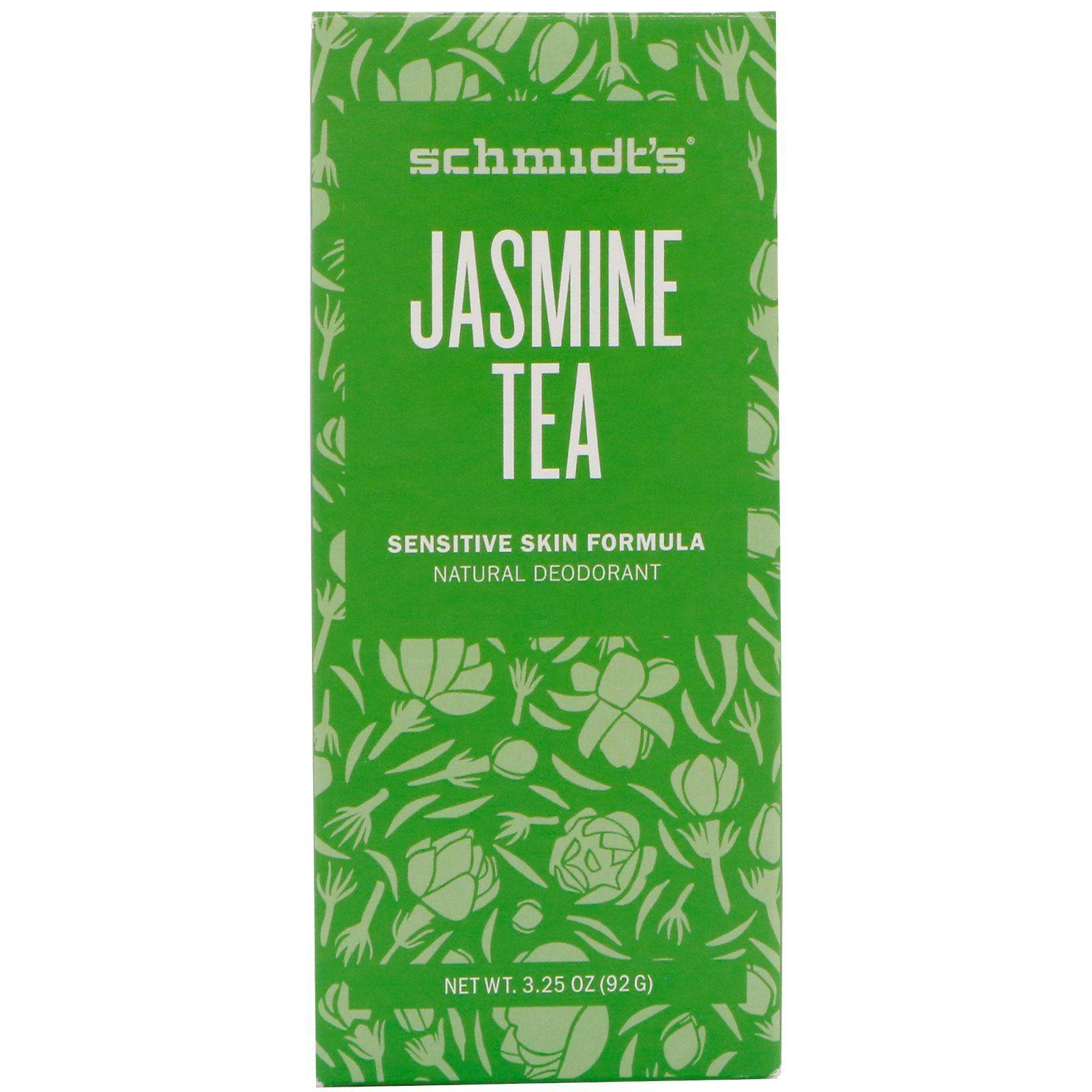 Schmidt S Naturals Natural Deodorant Sensitive Skin Formula Jasmine Tea 3 25 Oz 92 G Zhasminovyj Chaj Tovary Dlya Zdorovya Chaj