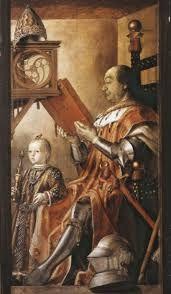 Pedro Berruguete Ritratto Di Federico Da Montefeltro Con Il Figlio